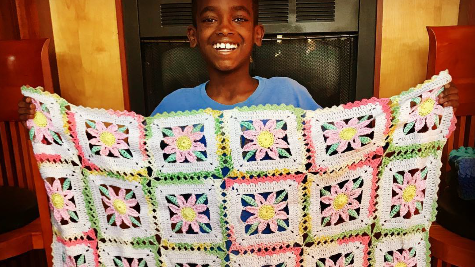 Inspiring 11-year-old crochets for a good cause