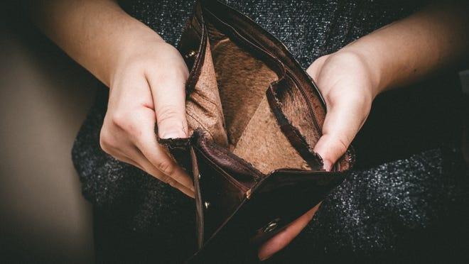 Empty wallet.