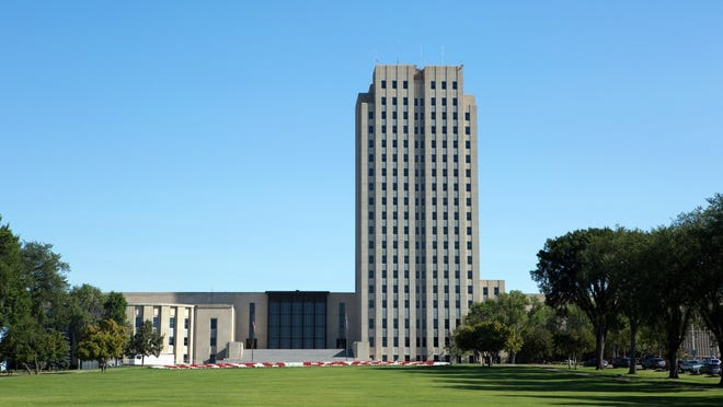 34. North Dakota: North Dakota State Capitol   • City:  Bismarck   • Height:  242 feet   • Floors:  19   • Year built:  1934   ALSO READ: 50 Cities Getting the Most Exercise