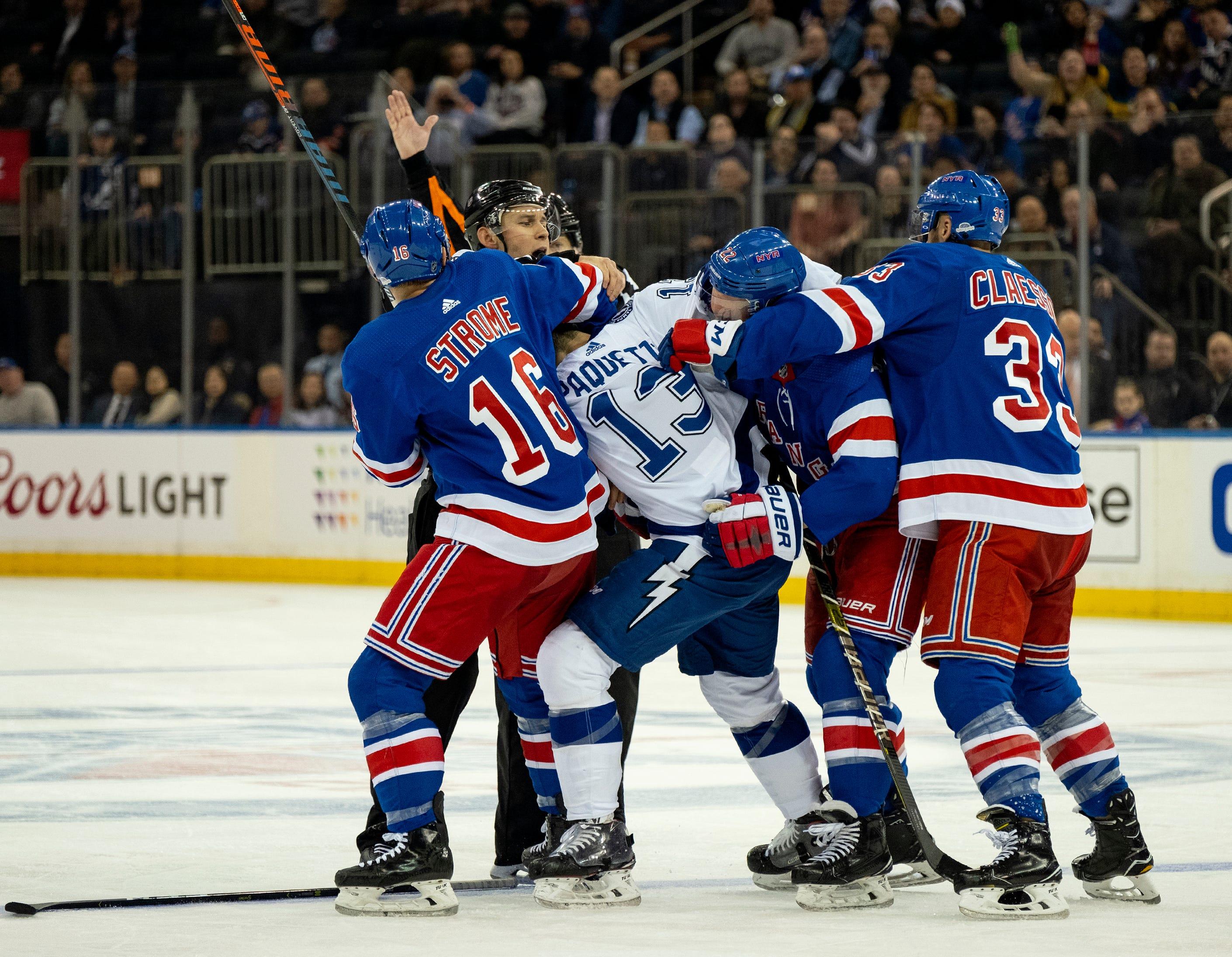 Lightning win 10th straight, top Rangers 4-3 in OT