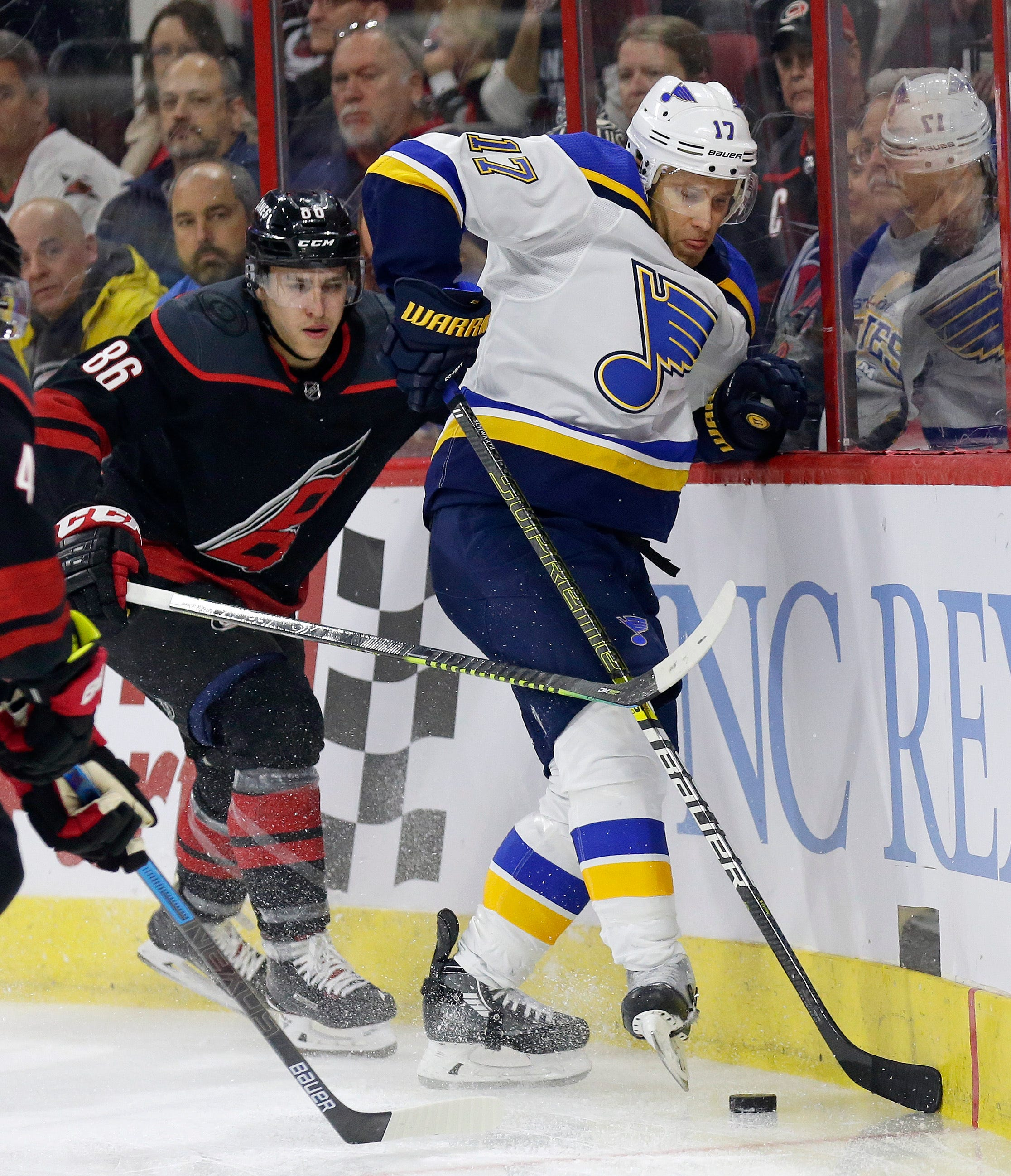 Aho's goal, assist lead surging Hurricanes past Blues 5-2