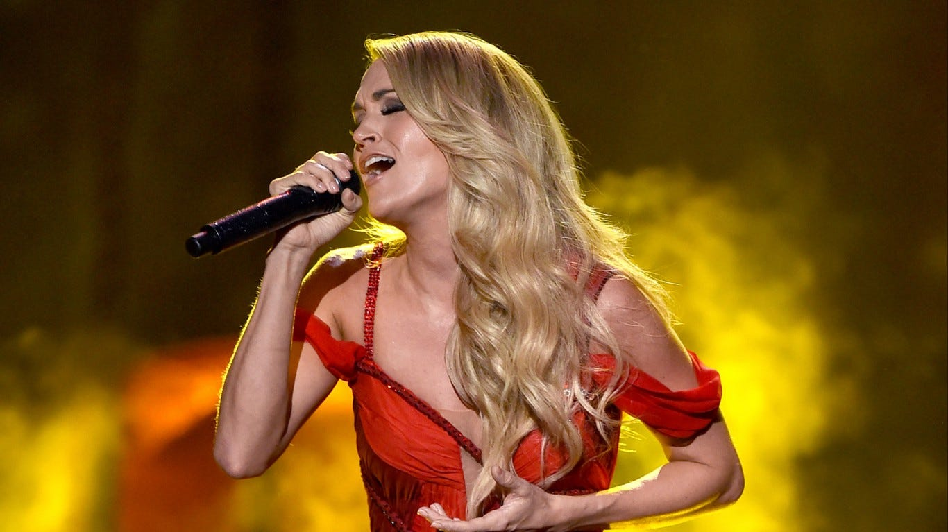 Carrie Underwood gives Nashville elementary students a teary-eyed surprise: Watch