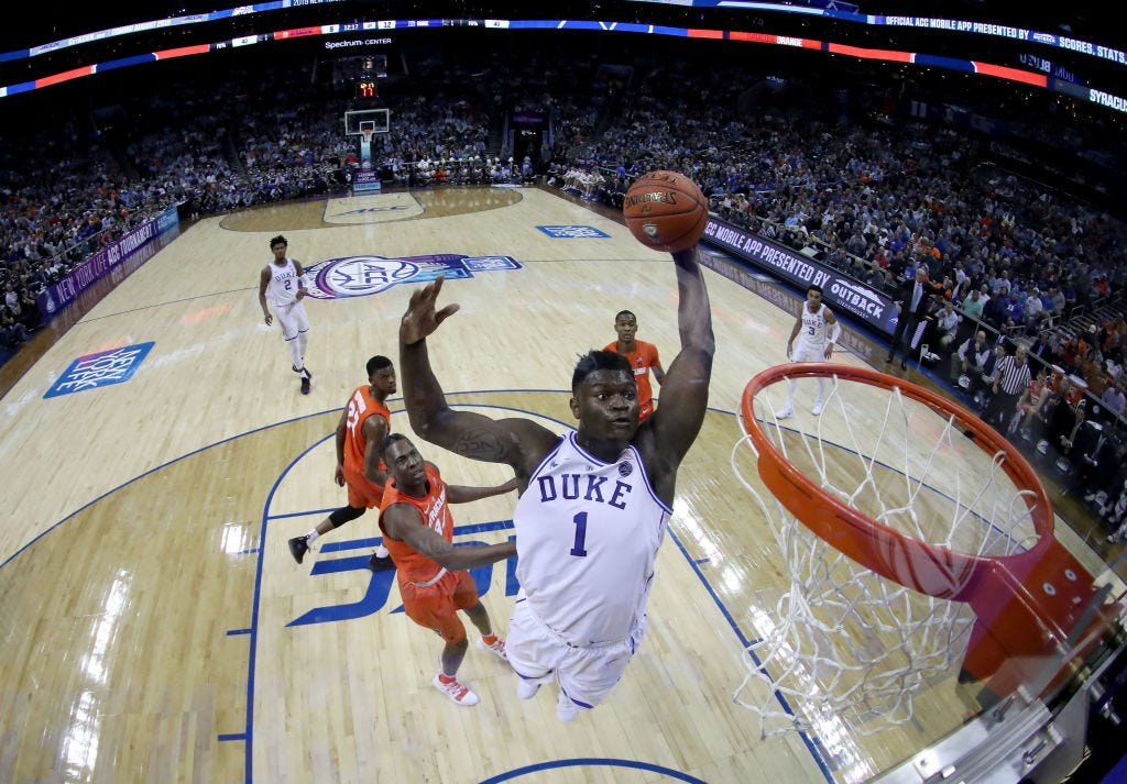 Image result for zion williamson usa today
