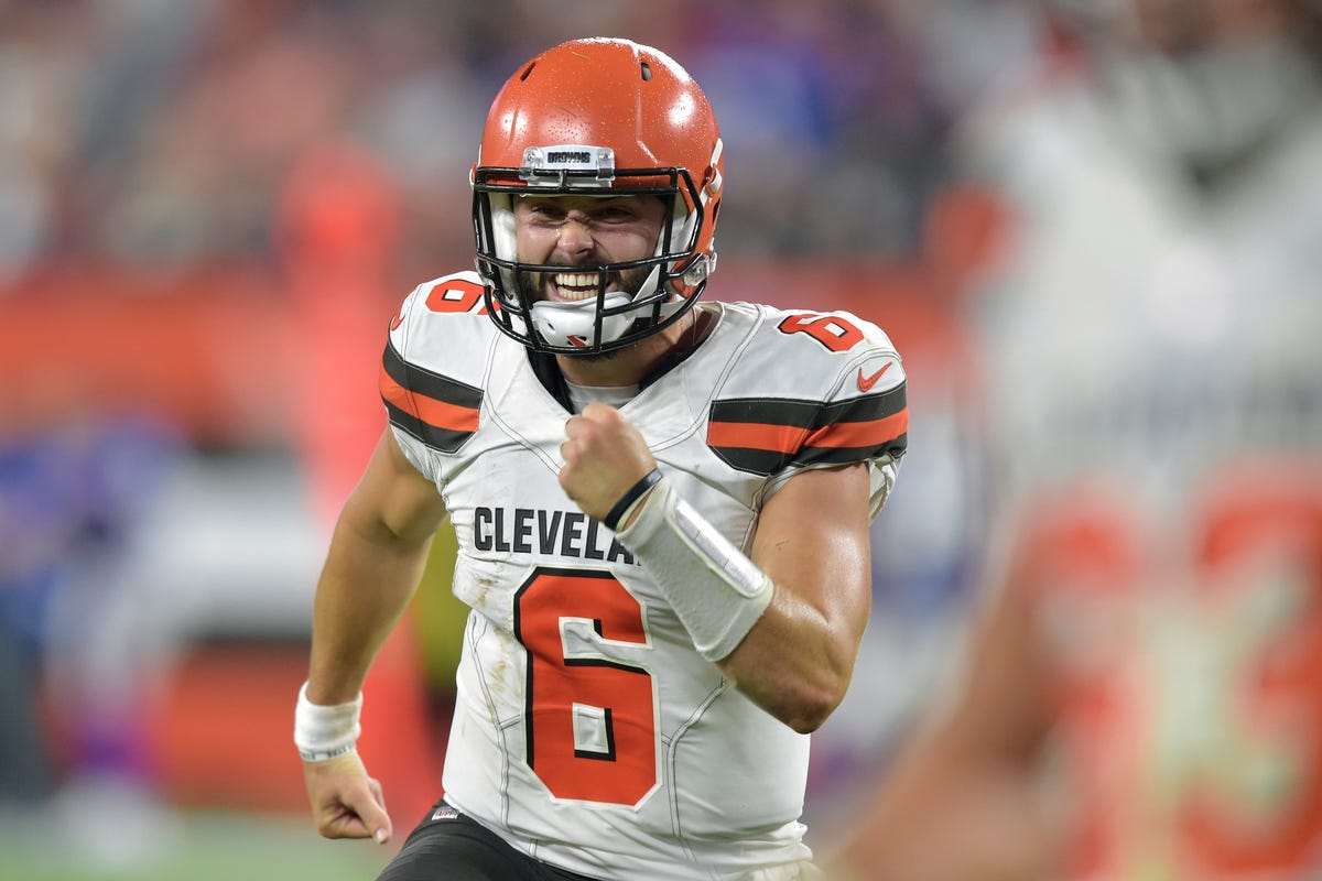 22325146d Brewers get a visit from Cleveland Browns quarterback Baker Mayfield