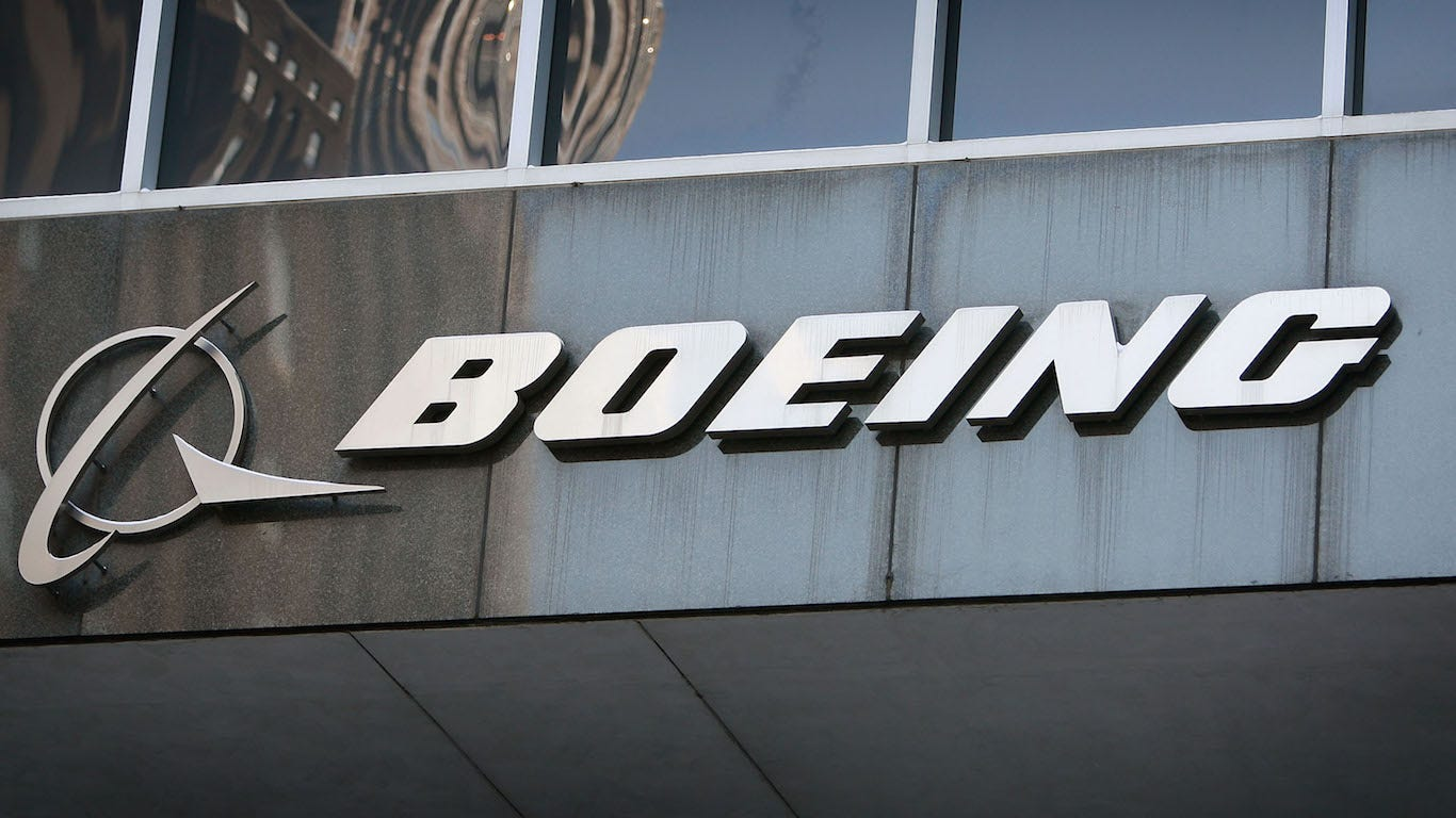 Boeing, Lockheed lead government contract spending