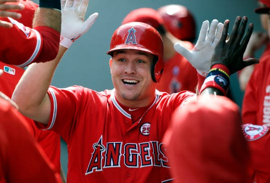 Opinion: Angels celebrate Mike Trout's extension, only the guest of honor was a no-show