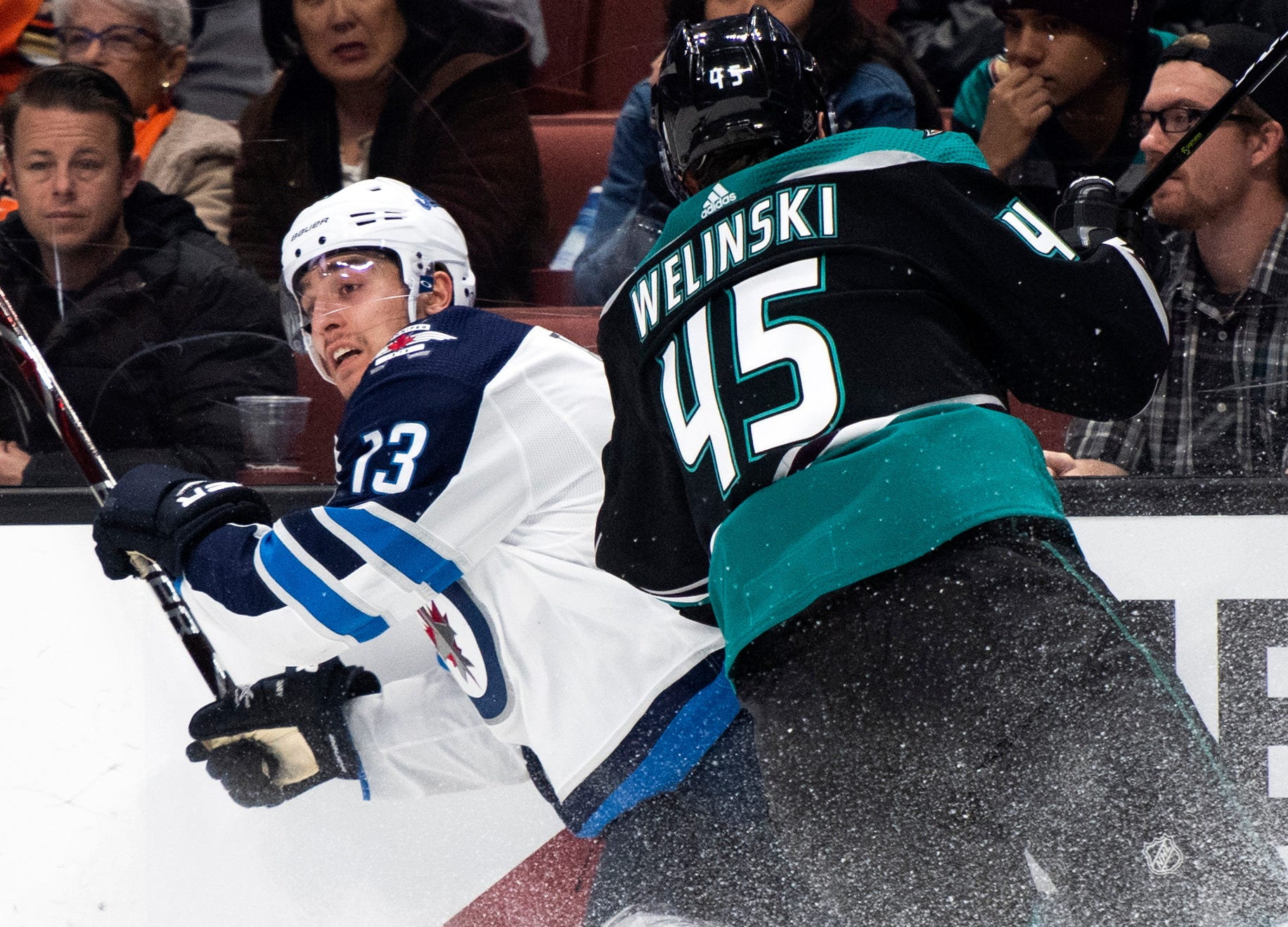 9a202a225f9 Connor, Hellebuyck propel Jets to 3-0 win over Ducks