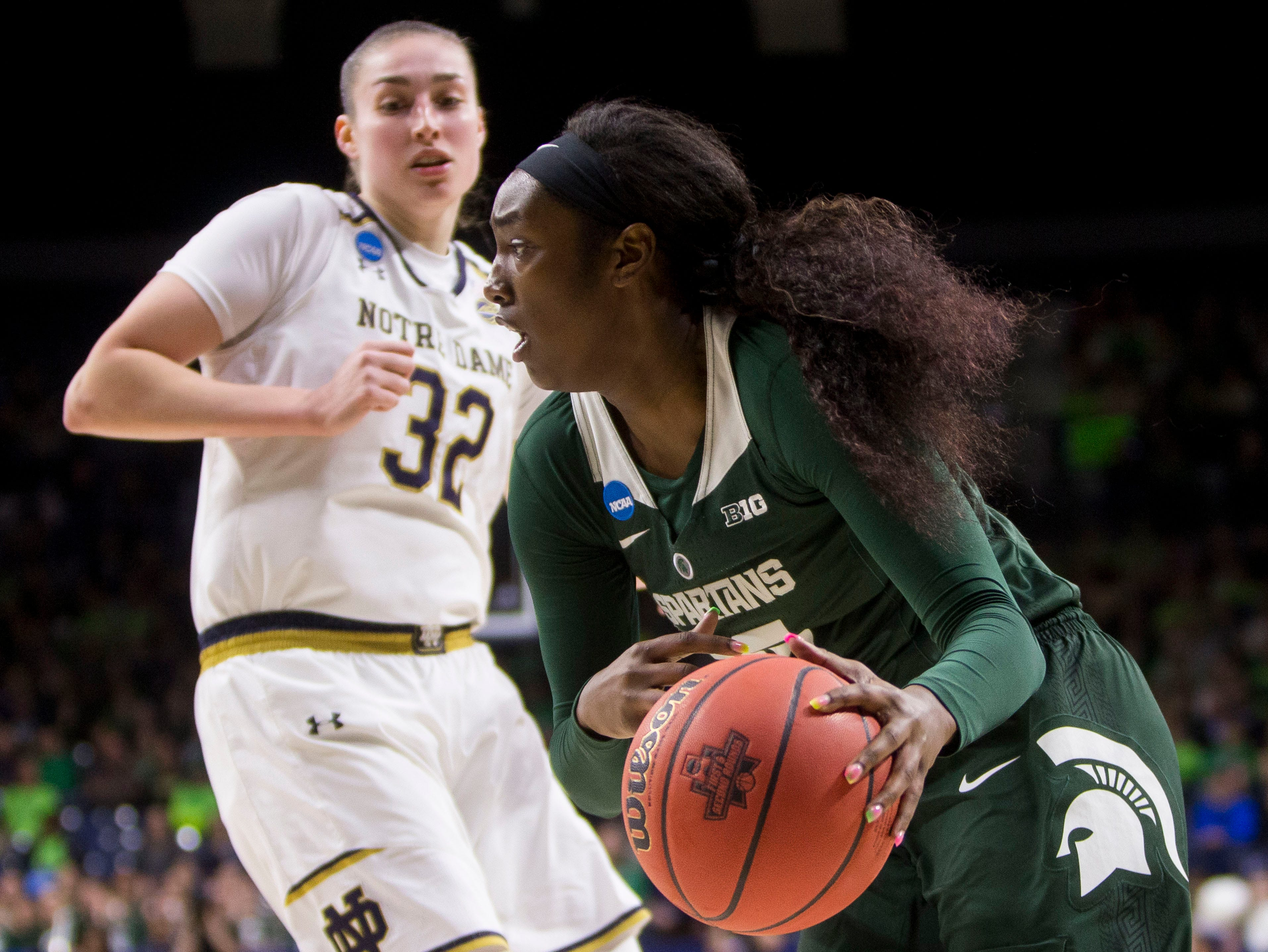 Ogunbowale and Young show way as Irish rout MSU, 91-63