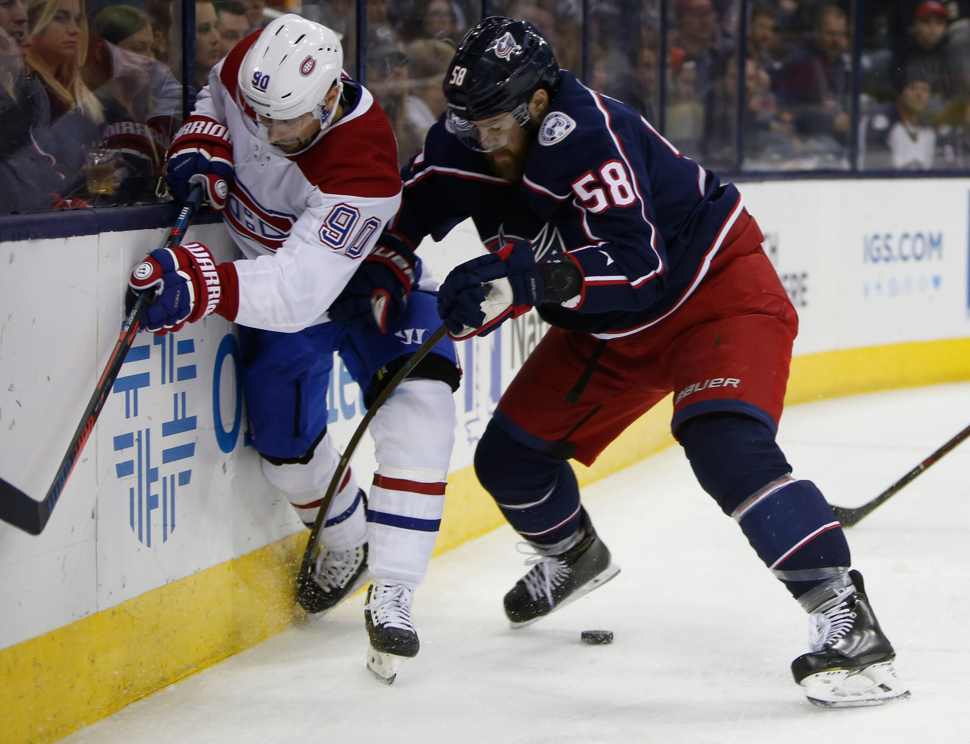 Blue Jackets jump into wild-card spot with rout of Canadiens
