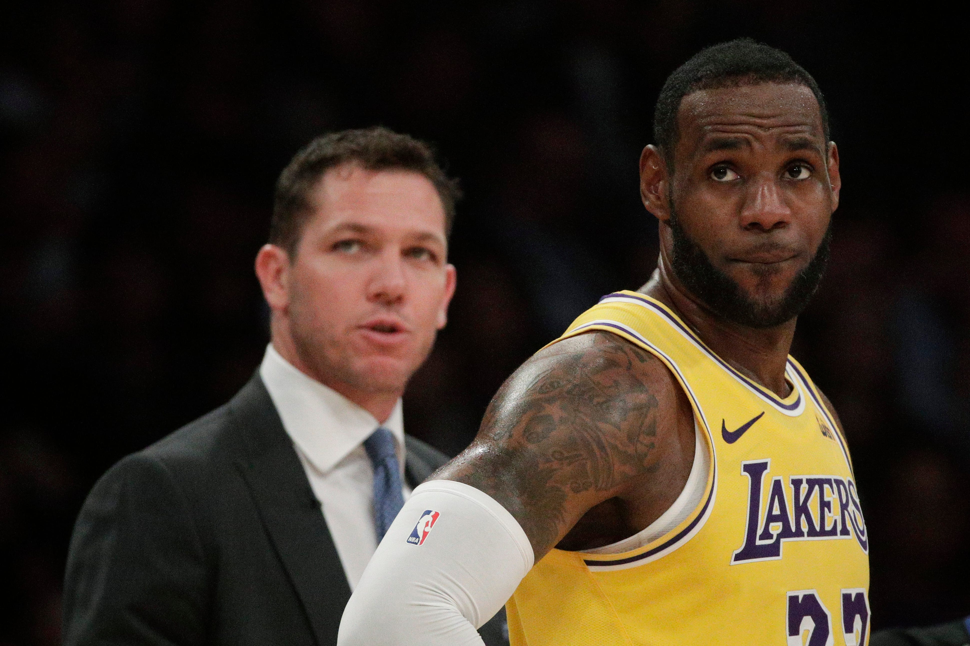 4c47bc20f42 LeBron James  Lakers fans left wanting more from three-time NBA champ