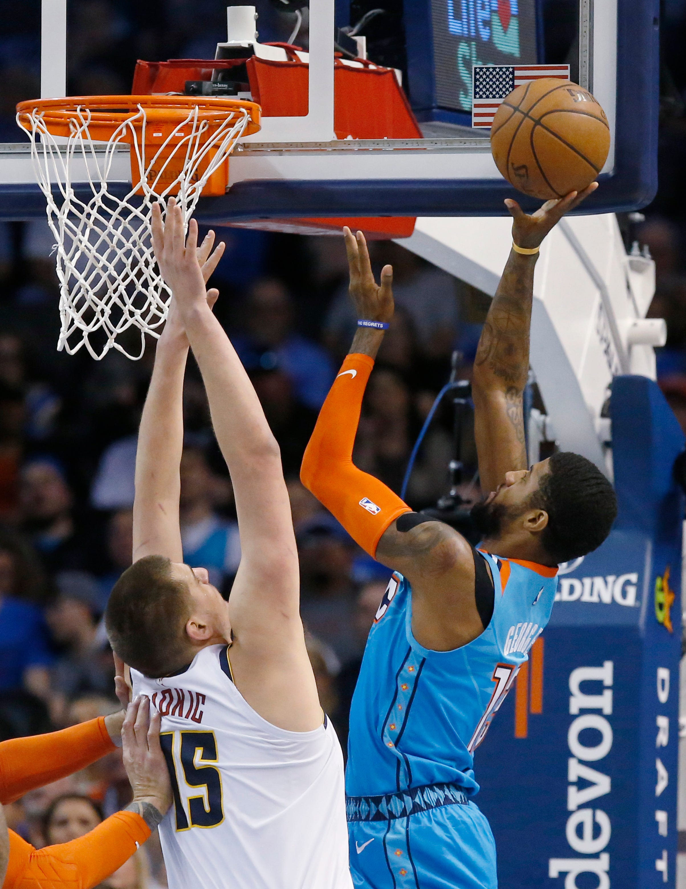 Murray scores 27; Nuggets top Thunder 115-105