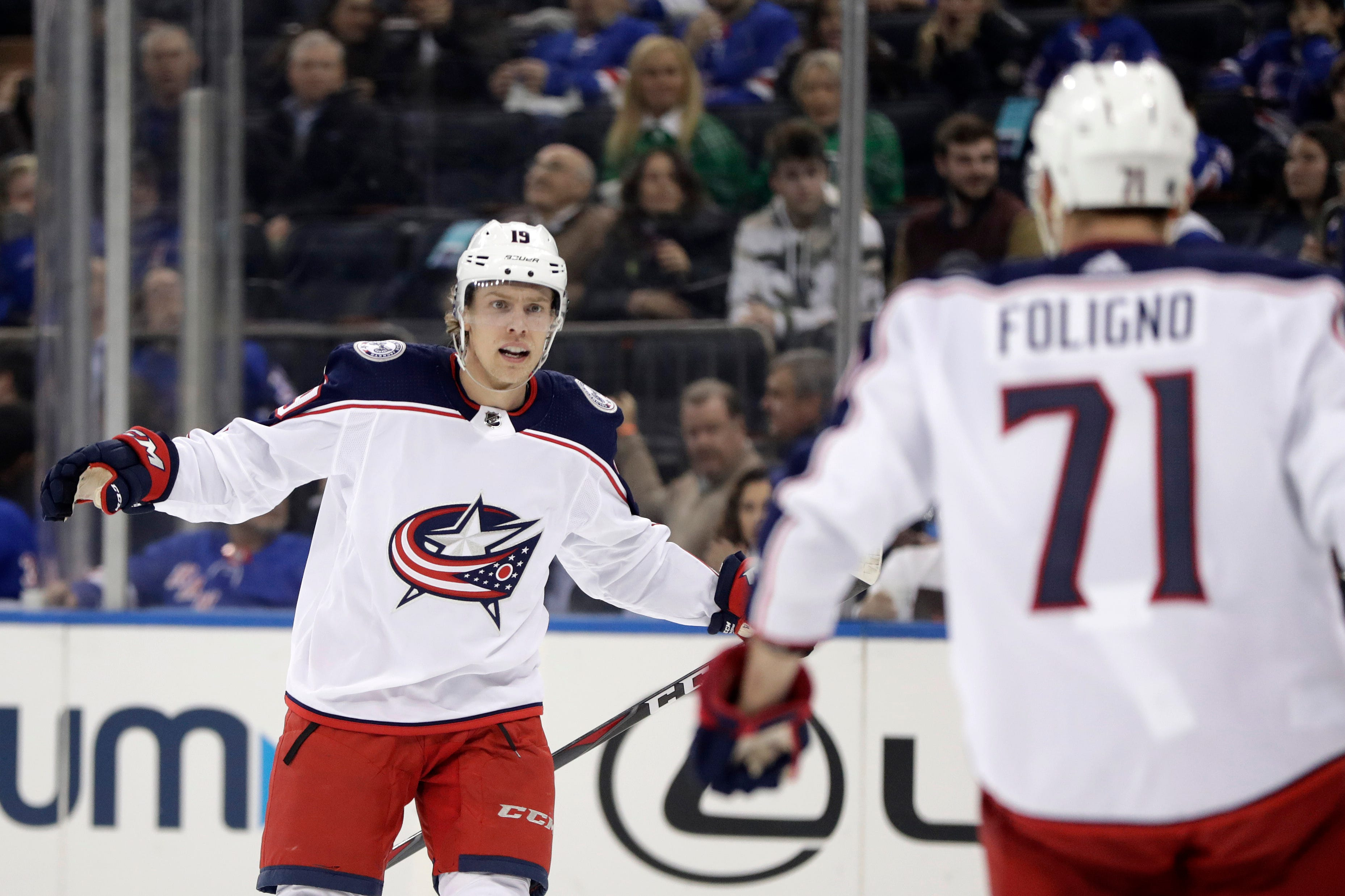 Blue Jackets edge Rangers in shootout to earn playoff spot