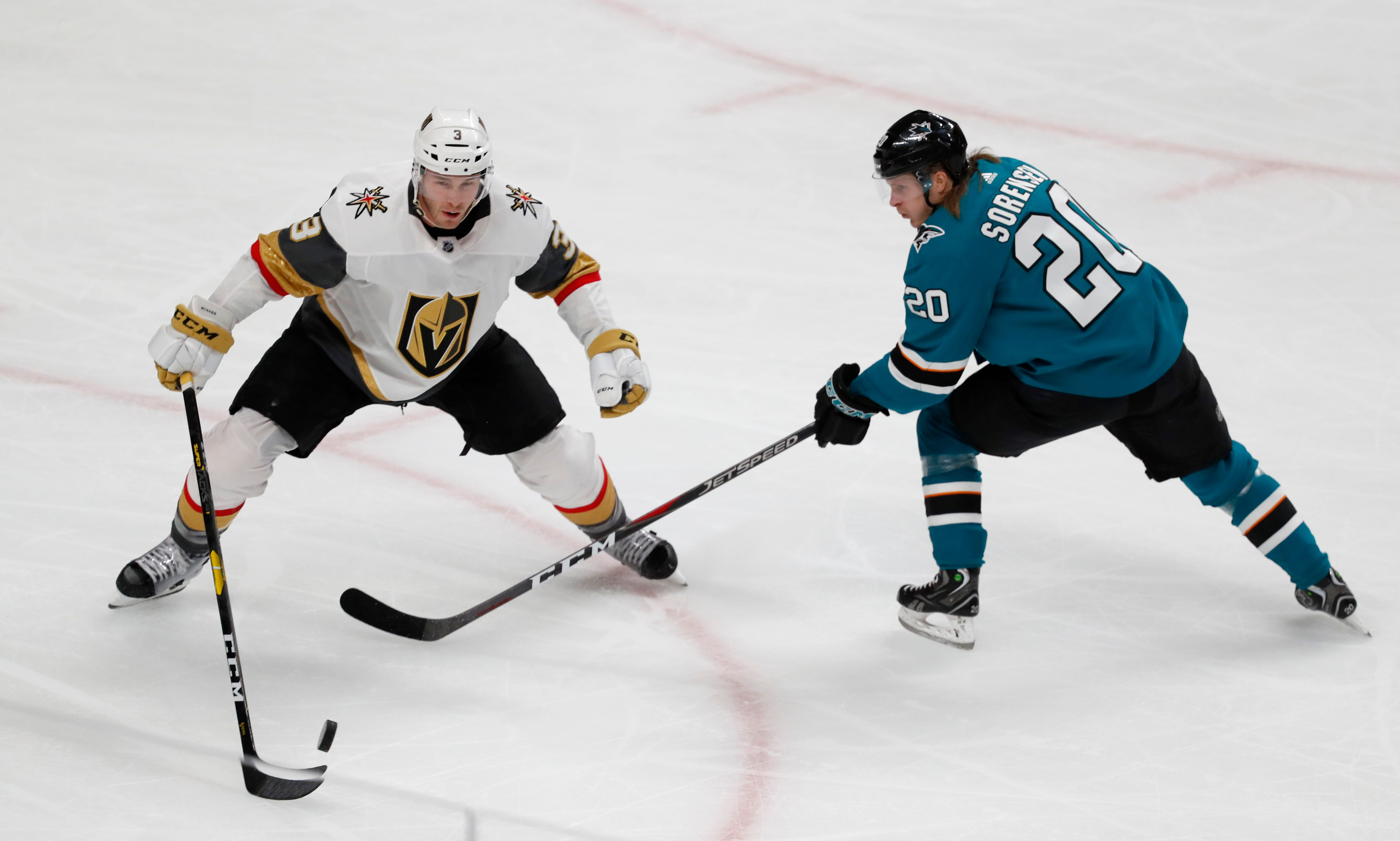 Golden Knights tie series with Sharks with 5-3 win in Game 2