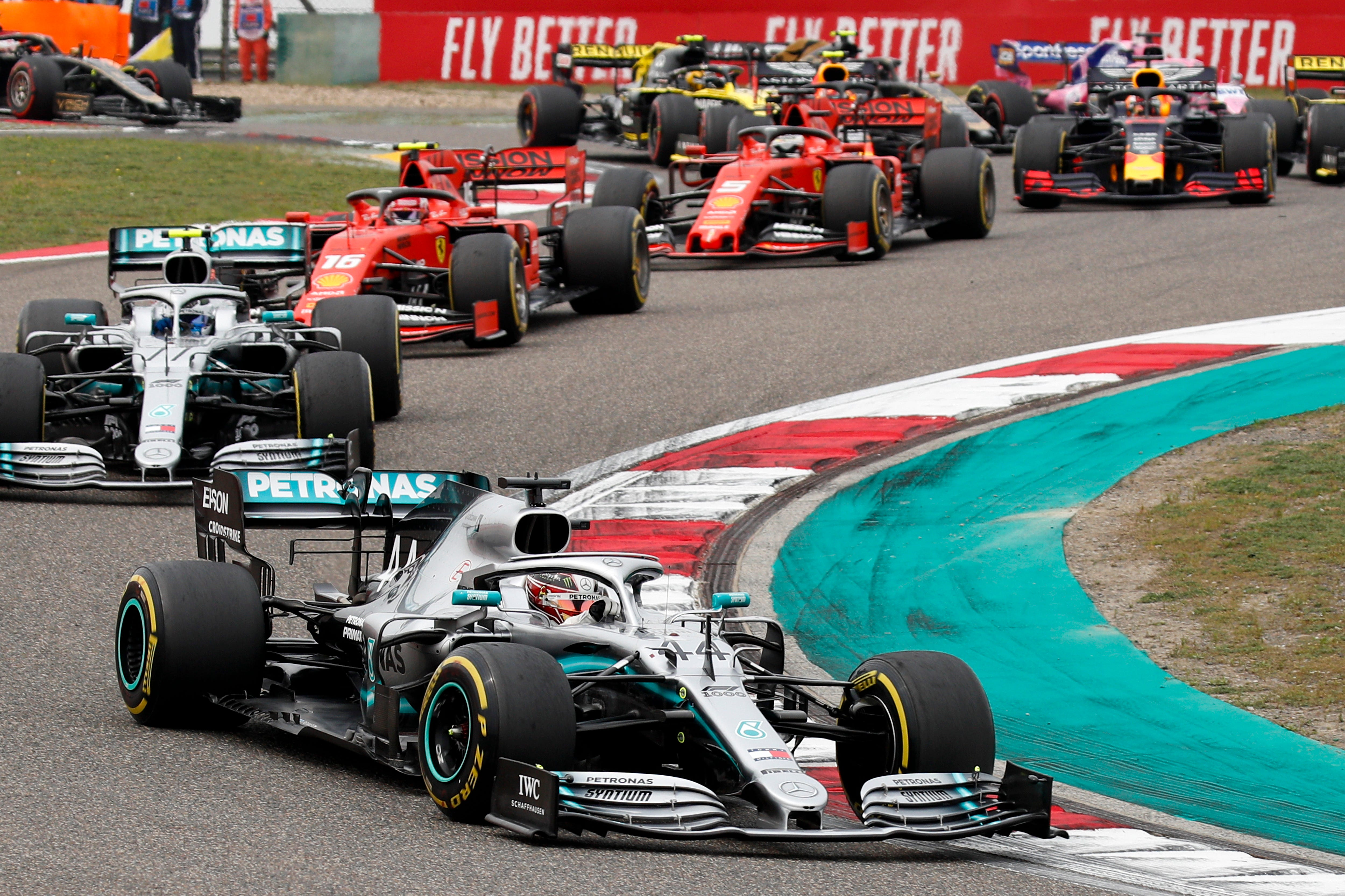 Hamilton wins 6th Chinese GP; pole winner Bottas takes 2nd