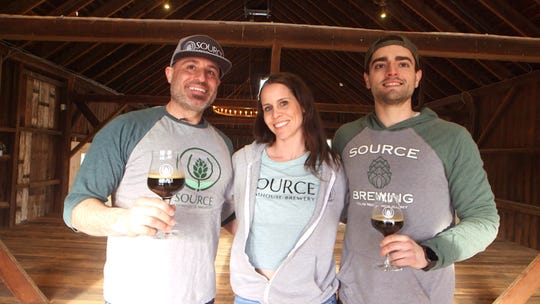 Source Brewing founder and managing partner Phillip Petracca, from left, with director of operations Keri Petracca and head brewer and director of brewery operations Greg Taylor, pictured at the Colts Neck farmhouse brewery in 2019.