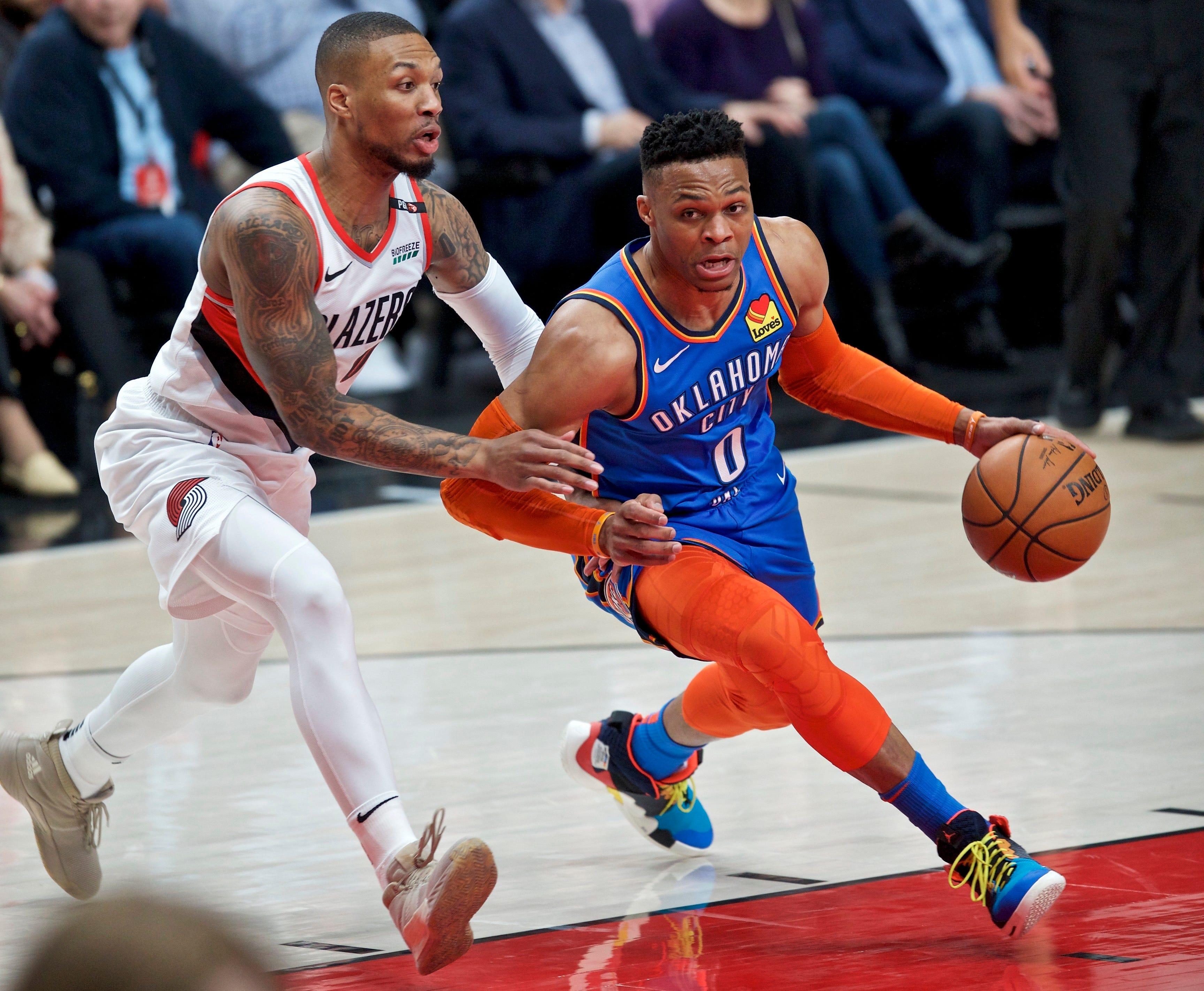 178e434e25b NBA playoffs  Blazers take 2-0 series lead on Thunder