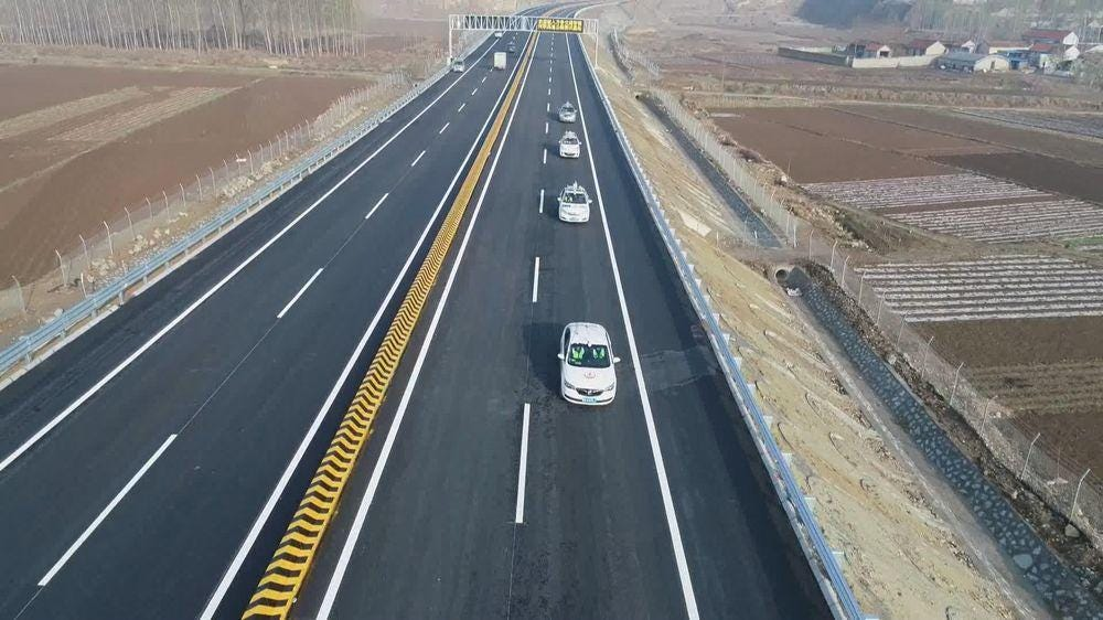 China site tests autonomous cars in highway conditions