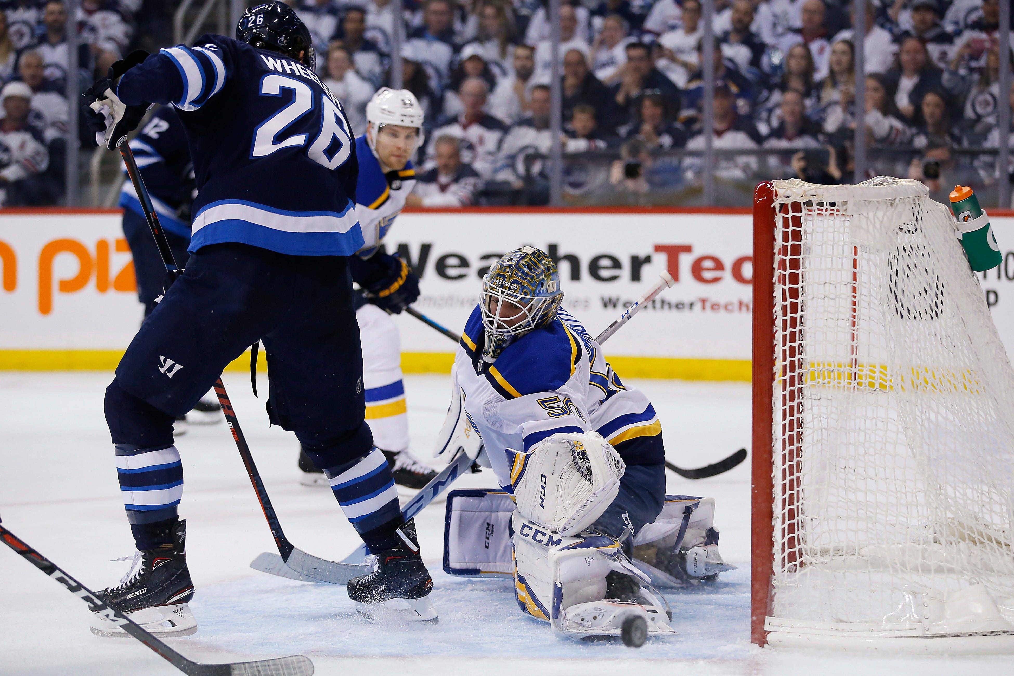 Schwartz caps Blues' rally in 3-2 win over Jets 1 in Games 5