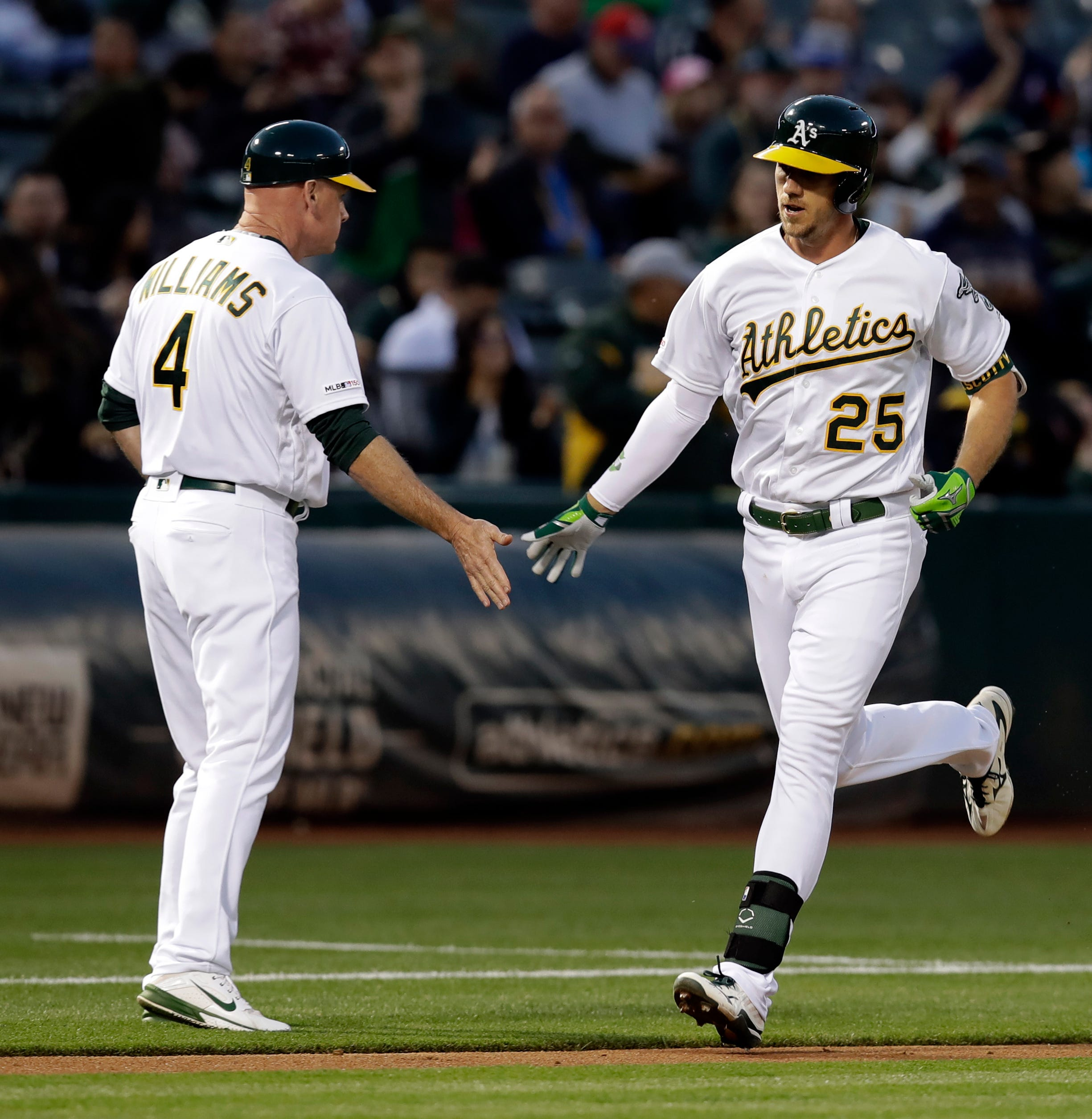 Piscotty's 3 RBIs lead A's over Rangers, end 3-game skid