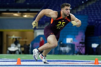Nick Bosa spoke with media before the NFL Draft and explained why he deleted controversial tweets.
