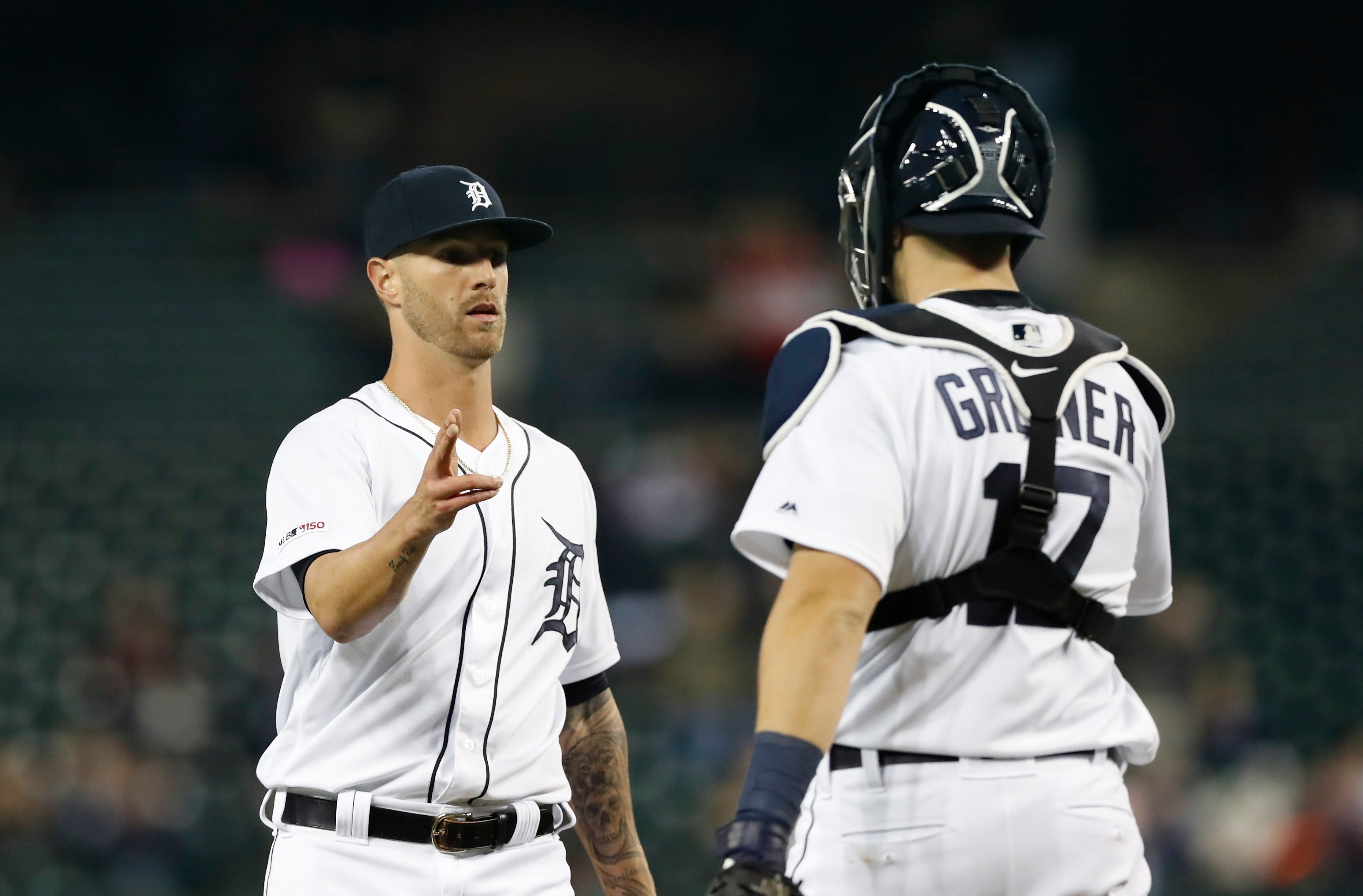 Greene gets 13th save in Tigers' 14th win, 4-3 over Royals