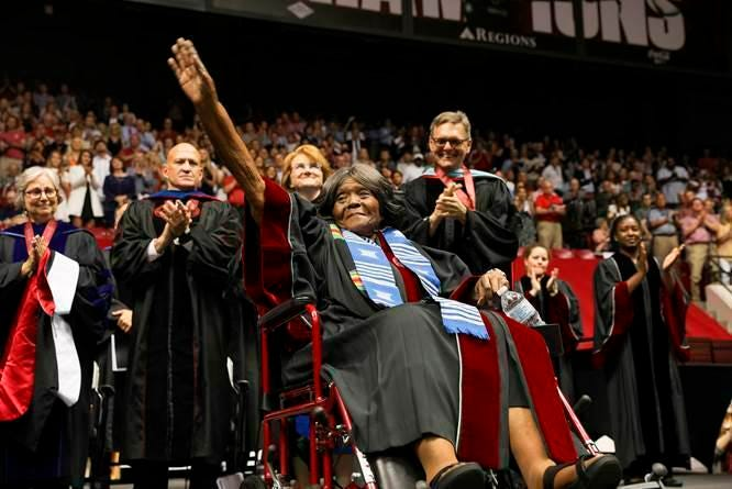 Alabama's first black student faced death threats in 1956. Now, she's getting an honorary degree