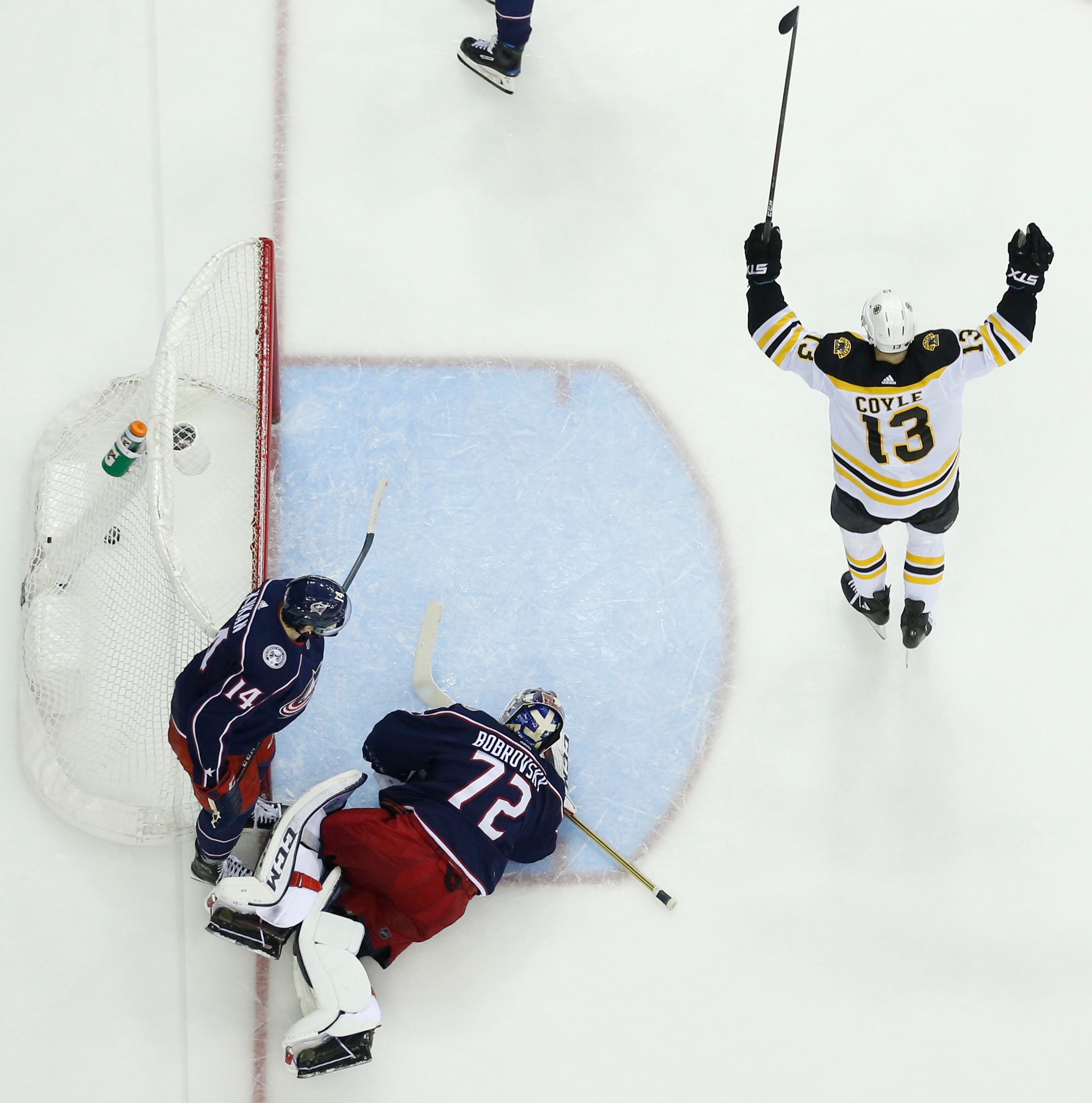 Rask comes up big as Boston Bruins advance to face 'Canes