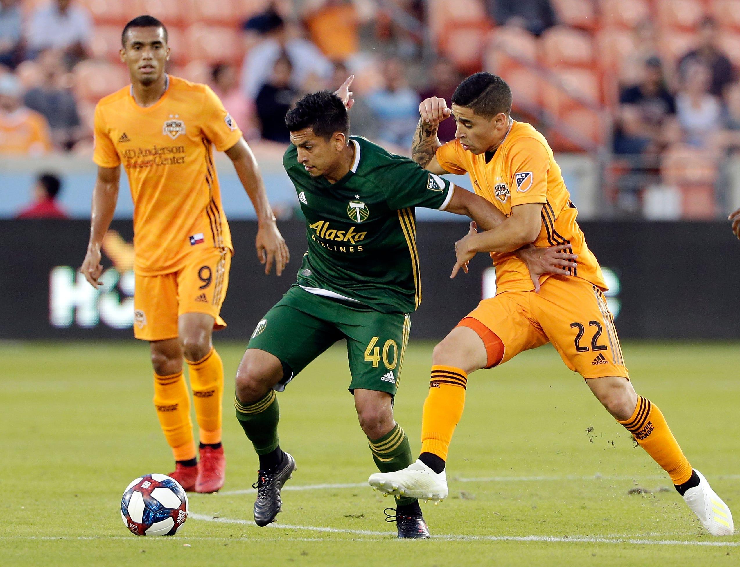 Fernández scores in MLS debut, Timbers tie Dynamo 1-1