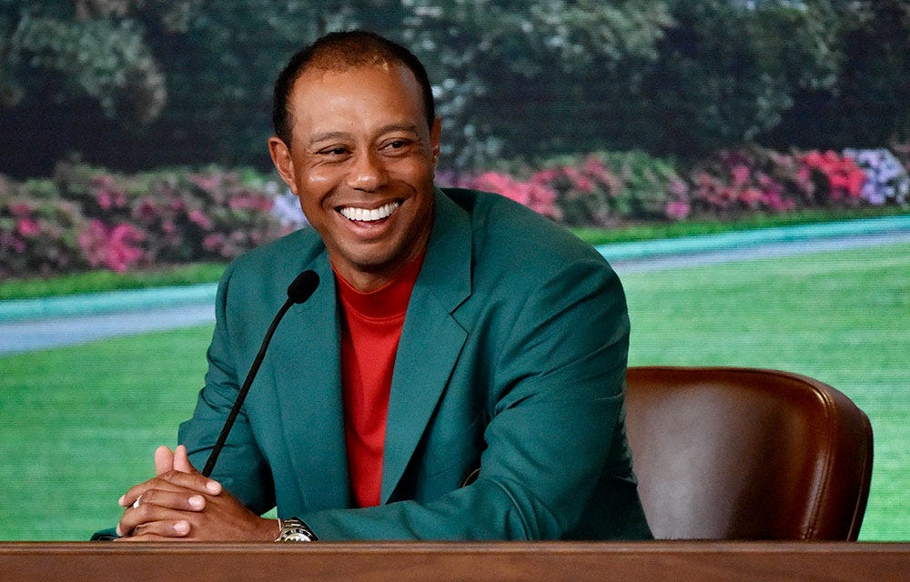 Tiger Woods on fan's $85,000 Masters bet: '[Expletive] great bet'