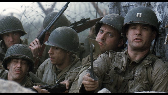 """""""Saving Private Ryan"""", directed by Steven Spielberg, was released in 1998 and starred Tom Hanks, Matt Damon and Tom Sizemore."""