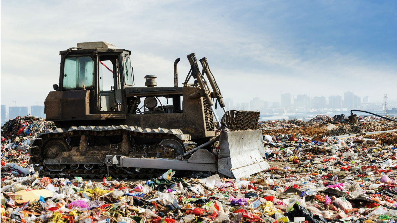 Canada produces the most waste in the world. The US ranks third