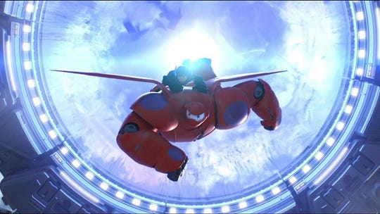"""""""Big Hero 6"""" tells the story of Hiro, who along with bulbous robot Baymax and some of his close friends, forms a team of heroes to save the city of San Fransokyo."""