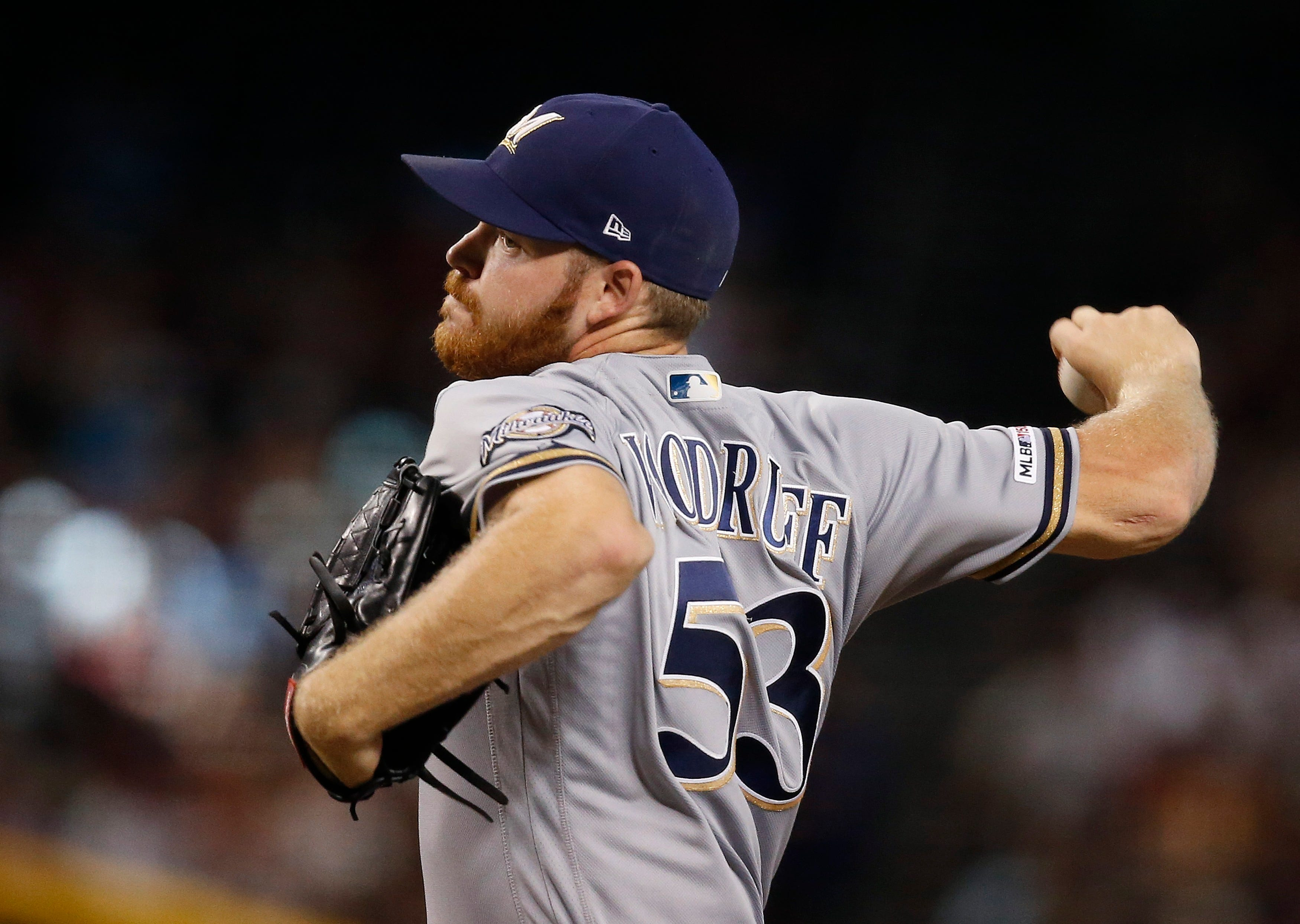 Brewers' Woodruff headed to injured list with oblique strain thumbnail
