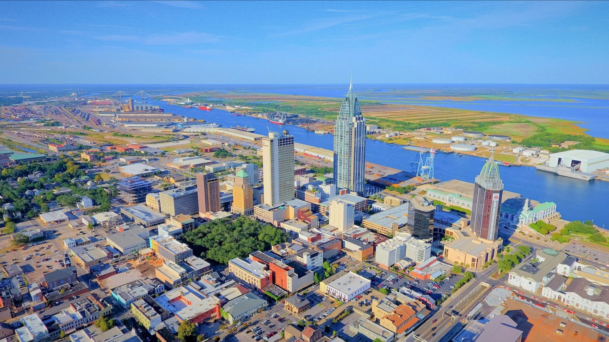 <strong>24. Mobile, Alabama</strong><br /> <strong>&bull; Preschool enrollment:</strong> 45.4%<br /> <strong>&bull; High school graduation rate:</strong> 83.7%<br /> <strong>&bull; Pop. with access to areas for exercise:</strong> 72.0%<br /> <strong>&bull; Property crime rate:</strong> 4,555 crimes per 100,000 people (highest 10%)