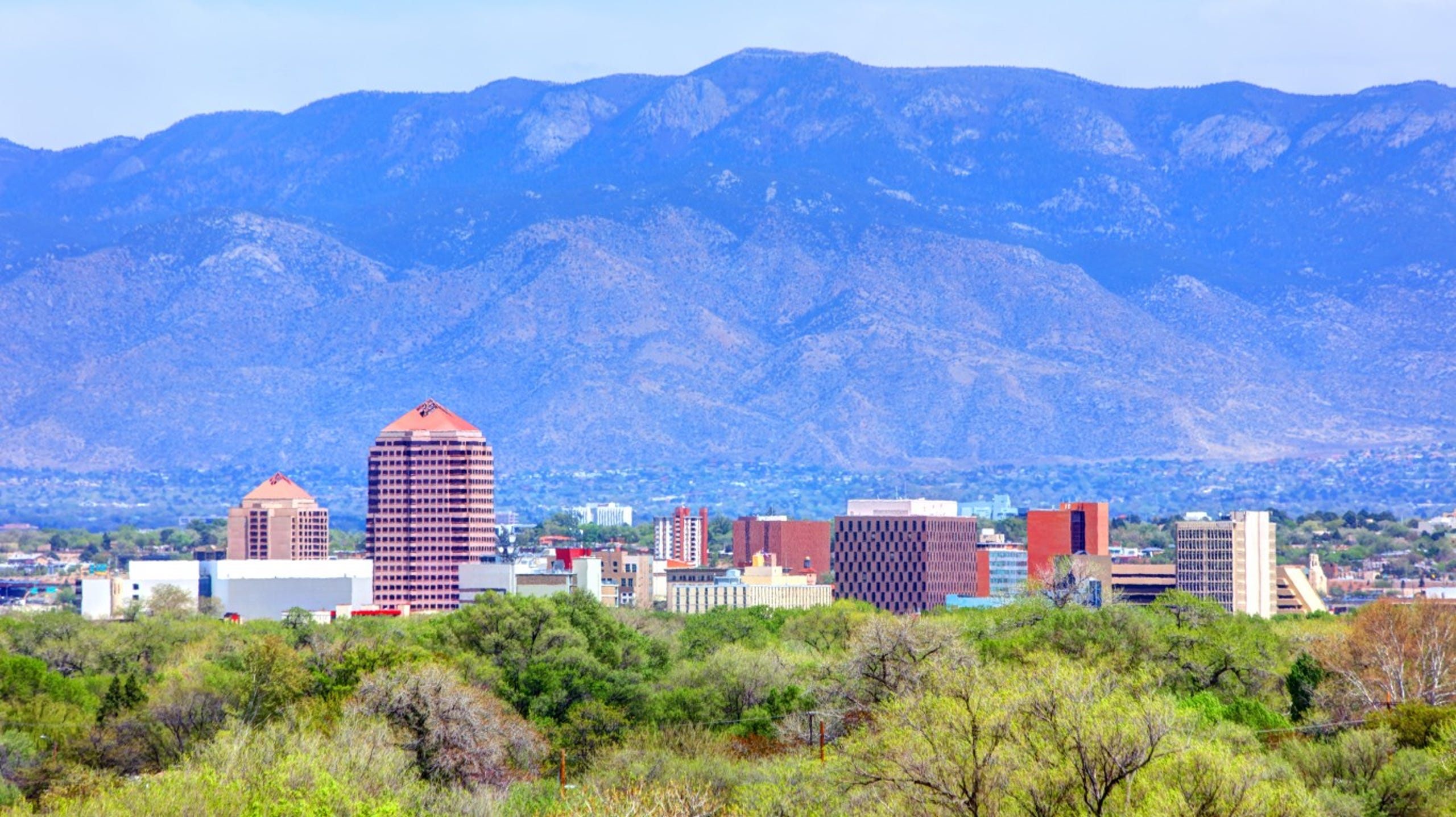 <strong>3. Albuquerque, New Mexico</strong><br /> <strong>&bull; Preschool enrollment:</strong> 41.5%<br /> <strong>&bull; High school graduation rate:</strong> 70.3% (lowest 10%)<br /> <strong>&bull; Pop. with access to areas for exercise:</strong> 84.8%<br /> <strong>&bull; Property crime rate:</strong> 5,499 crimes per 100,000 people (highest 10%)