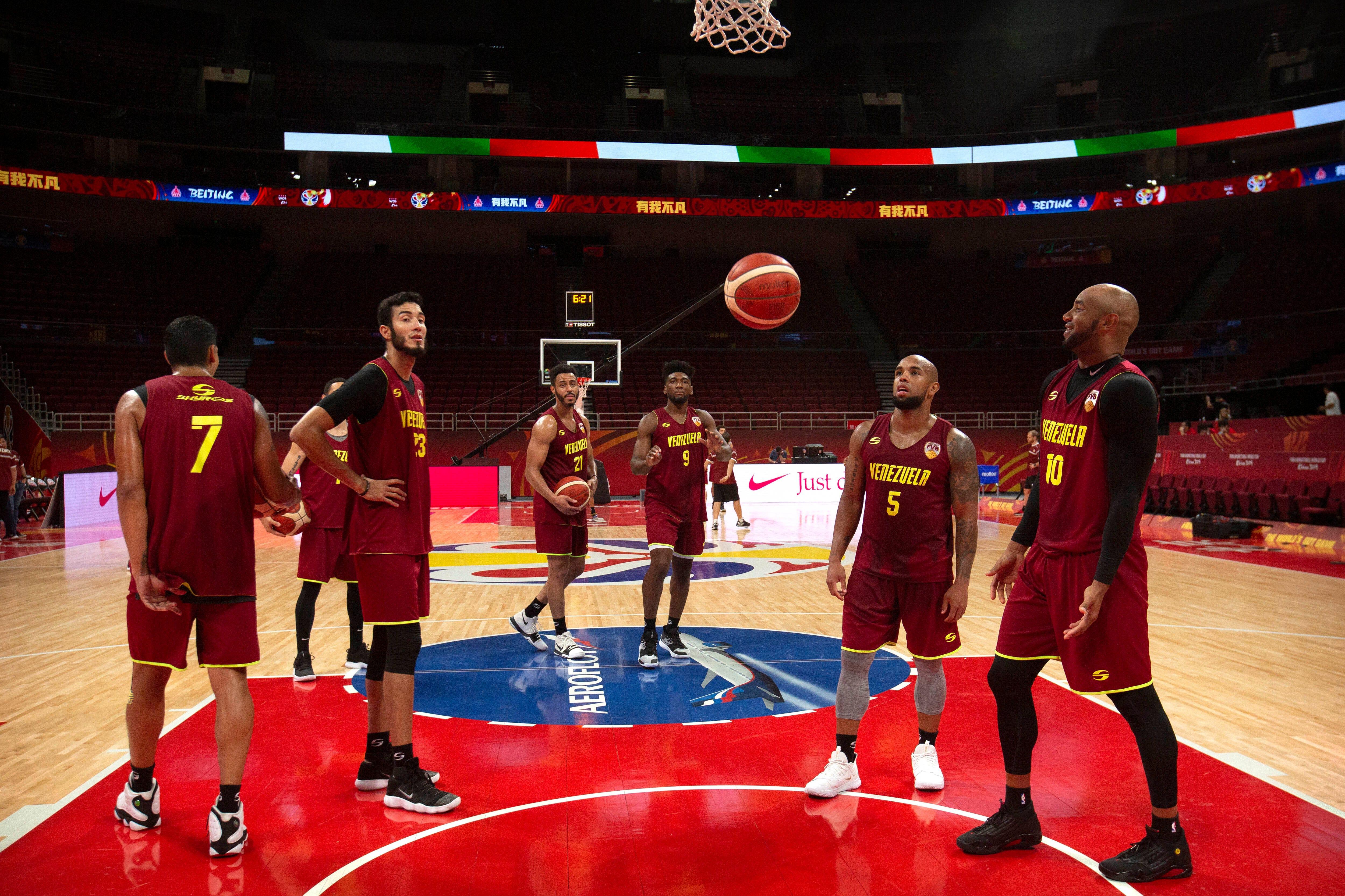 Venezuela basketball team hopes to send home some good news thumbnail