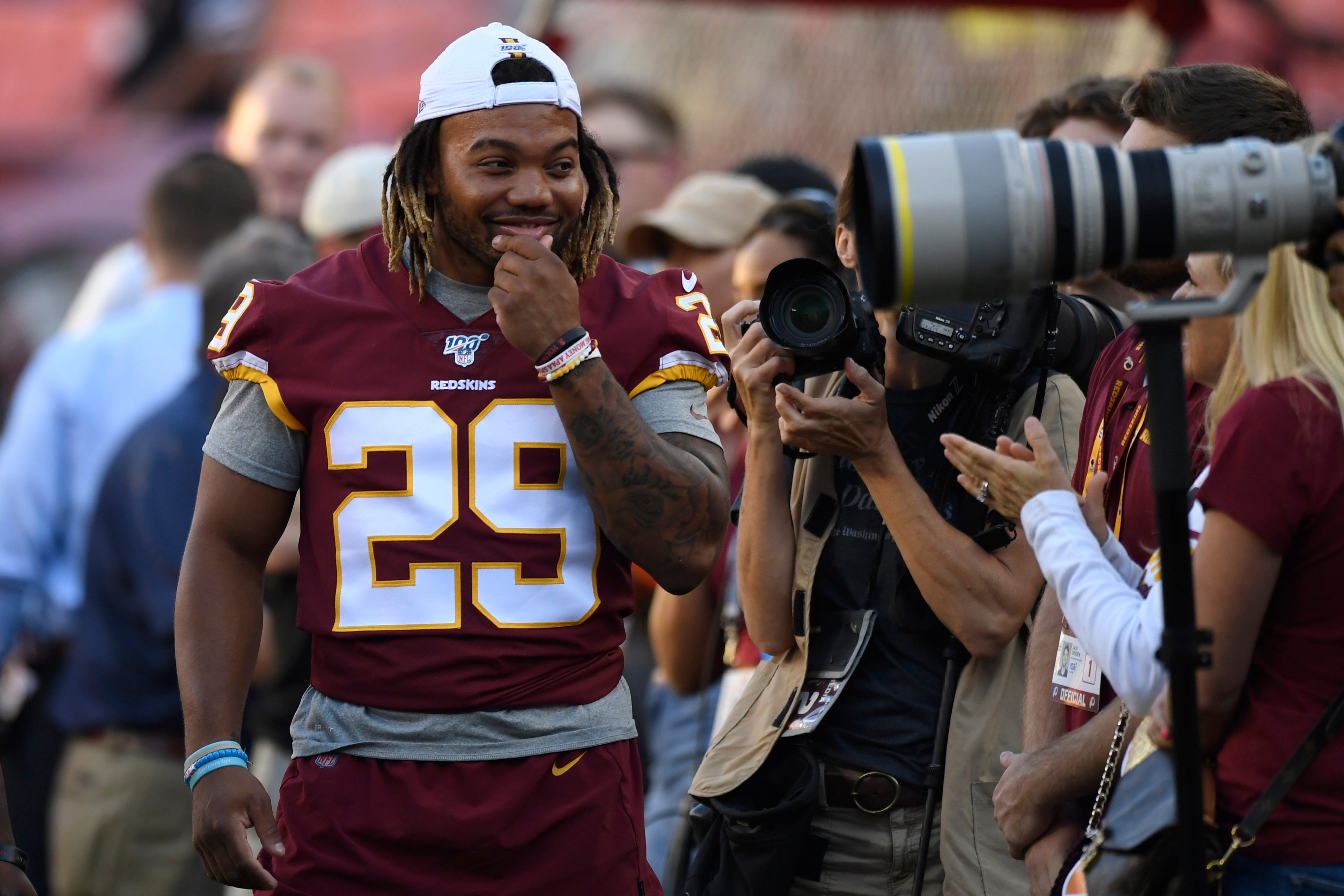 Guice and Peterson give Redskins a 1-2 punch in backfield