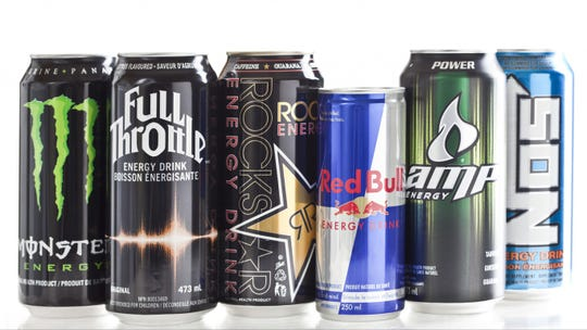 Energy drinks contain man-made caffeine.