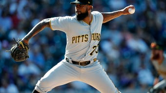 What I'm Hearing: Pittsburgh Pirates reliever Felipe Vazquez has been arrested for soliciting a child for sexual acts. As Bob Nightengale details, he may never pitch in the MLB again.