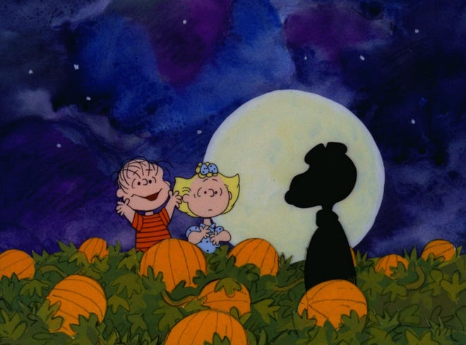 """The Peanuts gang celebrates Halloween, with Linus hoping that he will finally be visited by The Great Pumpkin in """"It's the Great Pumpkin, Charlie Brown."""""""