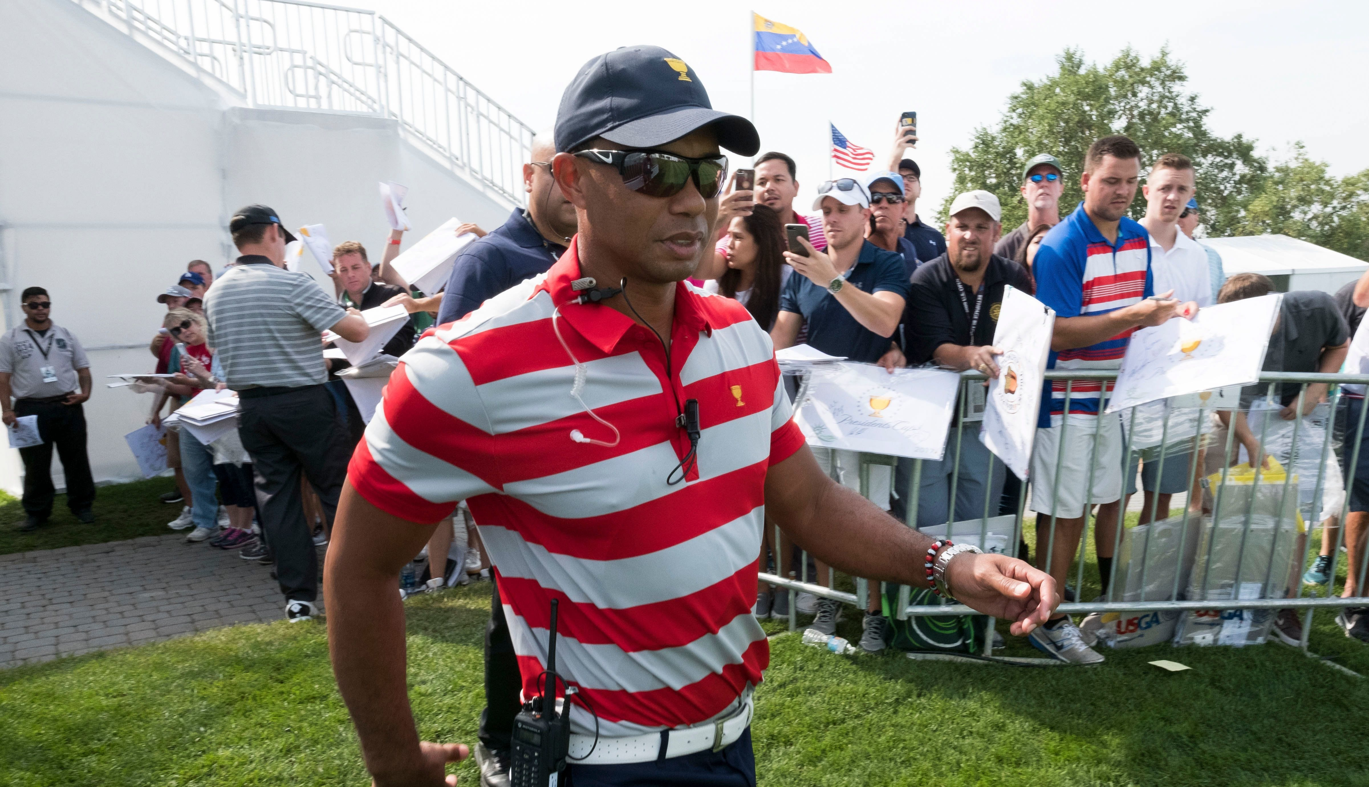Captain Tiger Woods names himself to Presidents Cup team to no one's surprise