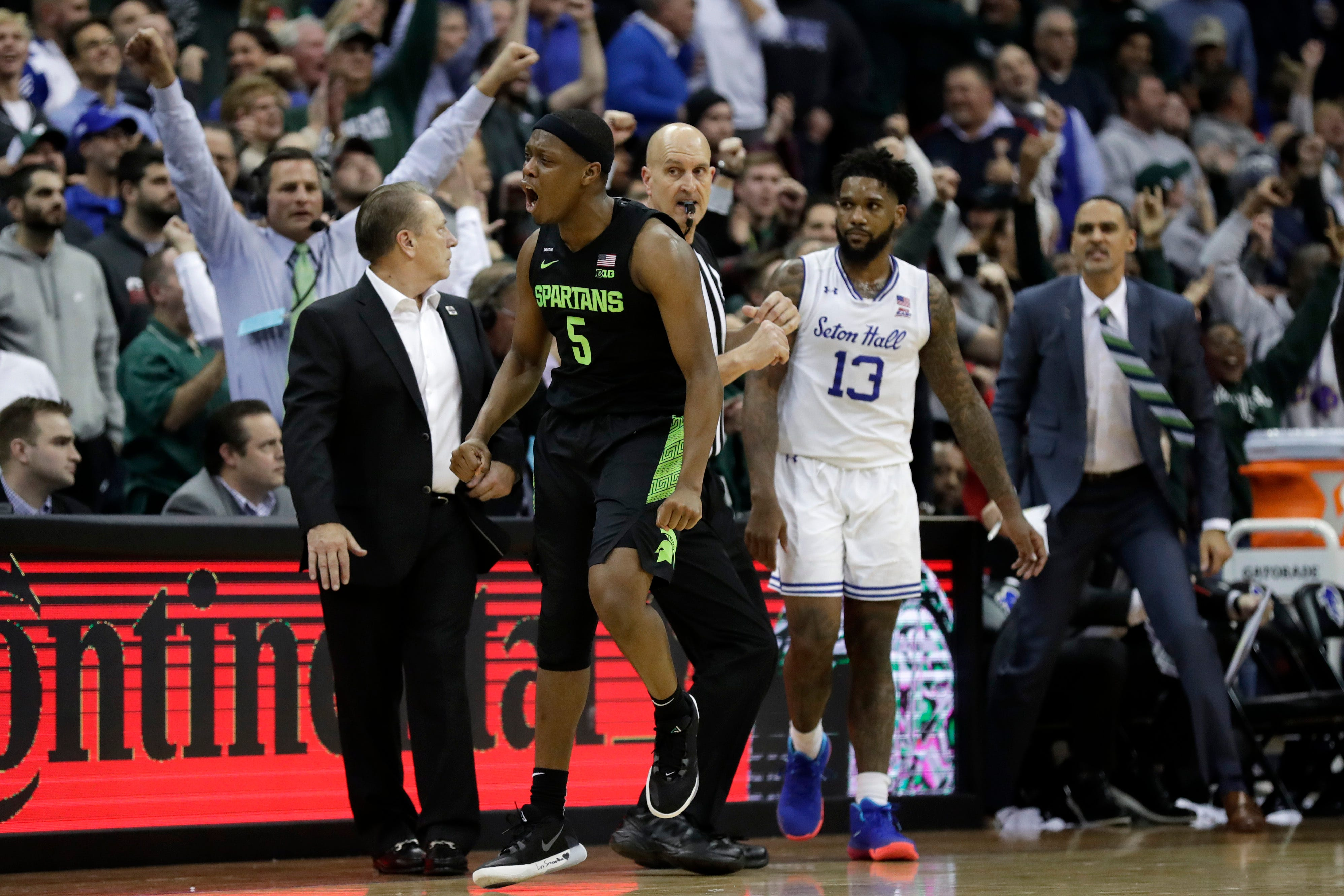 Michigan State basketball tops Seton Hall in `March...