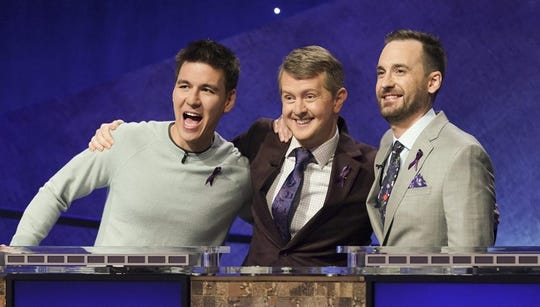 """James Holzhauer, Ken Jennings and Brad Rutter competed in ABC's """"Greatest of All Time"""" tournament for the winningest """"Jeopardy!"""" players in January."""
