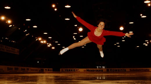 <strong>45. Dorothy Hamill&nbsp; &nbsp; </strong><br /> Occupation: Figure Skater<br /> Dorothy Hamill's career has had more than a few twists and turns. She began skating at the age of eight and won the U.S. and World Championships and a gold medal in the 1976 Winter Olympics at the age of 19. (The Girl Scout blog proudly features a video of Hamill's 1976 World Championship performance.) Hamill then went professional and toured with the Ice Capades. She has continued to perform despite battles with osteoarthritis and breast cancer.