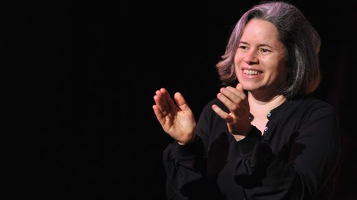 <strong>44. Natalie Merchant&nbsp; &nbsp; &nbsp;</strong><br /> Occupation: Singer<br /> Natalie Merchant rose to fame as the lead singer for folk-rock band 10,000 Maniacs, which had great success in the 1980s. She went solo in the 1990s. She is known for her socially conscious songs and for her activism on issues such as animal rights, domestic violence and homelessness.