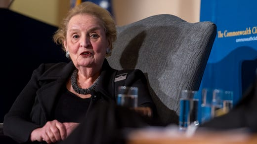 <strong>34. Madeleine Albright&nbsp; &nbsp; &nbsp;</strong><br /> Occupation: Politician<br /> Madeleine Albright was born Marie Korbel in Prague. Her family fled Czechoslovakia following the Nazi occupation in 1939. She has achieved success in academia, politics and diplomacy. From 1993 to 1997, Albright was the U.S. permanent representative to the United Nations and a member of the president's cabinet. Albright then became the first female secretary of state &ndash; and the highest ranking woman in the history of the U.S. government at that time. The two other female secretaries of state who followed Albright were also Girl Scout alums.