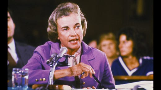 <strong>28. Sandra Day O'Connor&nbsp; &nbsp; &nbsp;</strong><br /> Occupation: Former Supreme Court Justice<br /> Sandra Day O'Connor was the first woman to serve on the U.S. Supreme Court. Appointed by President Ronald Reagan in 1981, O'Connor ruled on several landmark cases involving women's issues, including gender discrimination in education, abortion rights and sexual harassment. Since retiring in 2006 she has been an advocate for youth involvement in civics and government. When she turned 85, an Arizona Girl Scouts troop introduced the Sandra Day O'Connor Civic Leadership Badge in honor of the former Girl Scout.