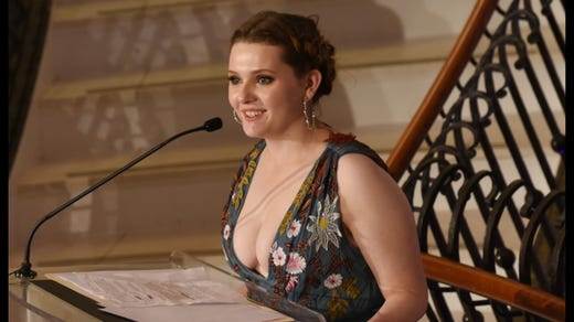<strong>20. Abigail Breslin&nbsp; &nbsp; </strong><br /> Occupation: Actress<br /> New Yorker Abigail Breslin is one of the youngest former Girl Scouts on our list. She is also one of the youngest actresses to have been nominated for an Academy Award for her performance in &quot;Little Miss Sunshine.&quot; Breslin became a member of the San Fernando Valley Girl Scout Council.