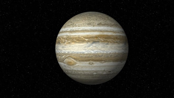 You'll need to be outside before 5:30 a.m. to see Jupiter in the heavens.