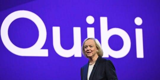 Quibi CEO Meg Whitman in January 2020.